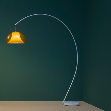 Stojací lampa L002T transparentní žlutá, Pedrali