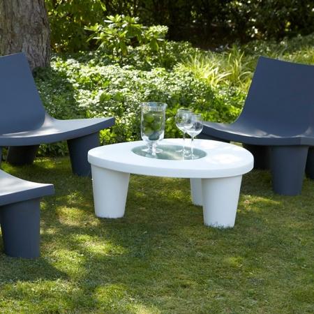 Konferenční stolek LOW-LITA bílý, SLIDE Design