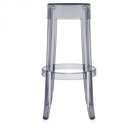 Set 2 stoliček Charles Ghost transp. šedá, Kartell