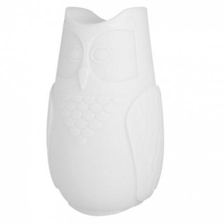 Svíticí sovička BuBo bílá, SLIDE Design