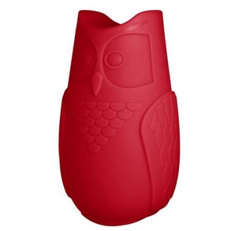 Svíticí sovička BuBo červená, SLIDE Design