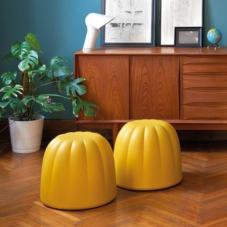 Taburet Gelée žlutý, Slide design