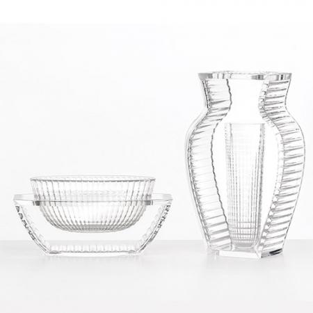 Set 2 váz I Shine, U Shine transparentní čirá, Kartell
