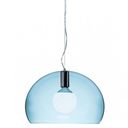 Závěsné svítidlo small Fly transparentní sv. modrá, Kartell