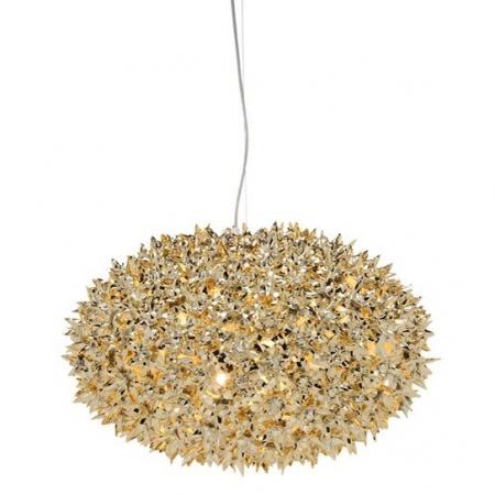 Metalické závěsné svítidlo Bloom zlaté, Kartell