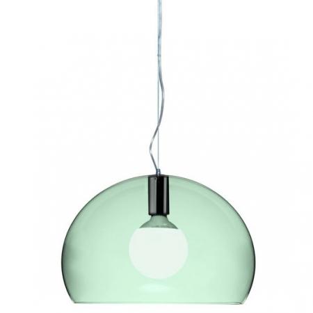 Závěsné svítidlo small Fly transparentní sv. zelená, Kartell