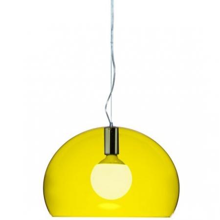 Závěsné svítidlo small Fly transparentní žlutá, Kartell